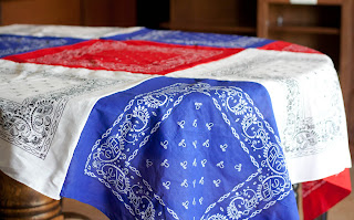 bandanna table cloth