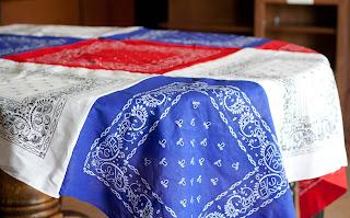 bandanna table cloth