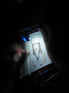 drawing illuminated by LED