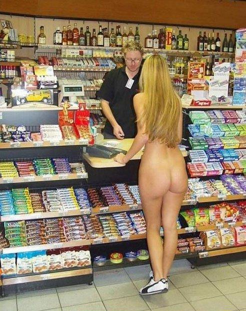 naked at the store