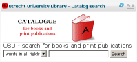Catalog Search for Utrecht University