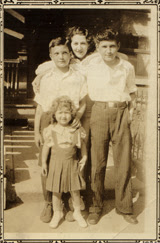 me(age9?) with brother Phillip,sister Annie(back) and niece Shirley