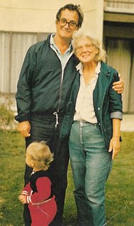Marcia and I with grandson Joey in younger days