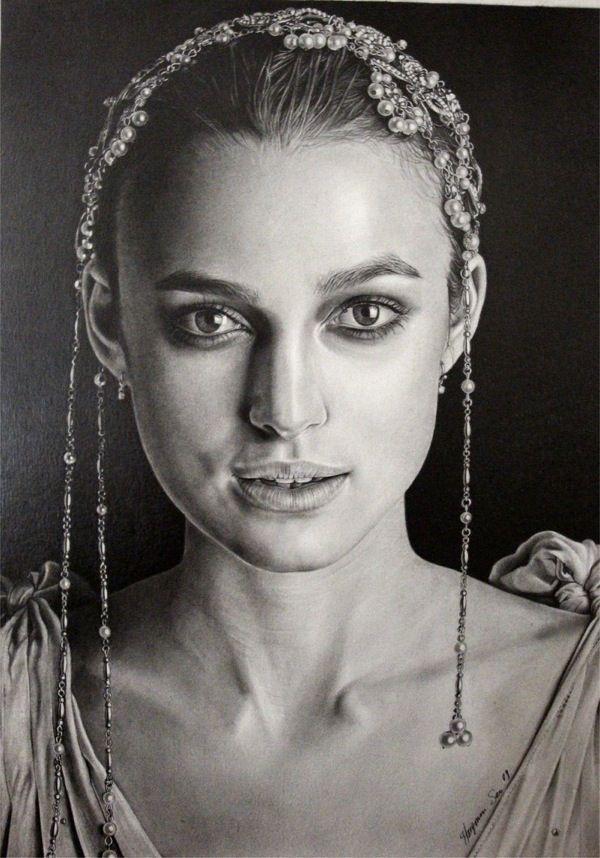 54 Incredible female pencil portrait drawings | Curious ...