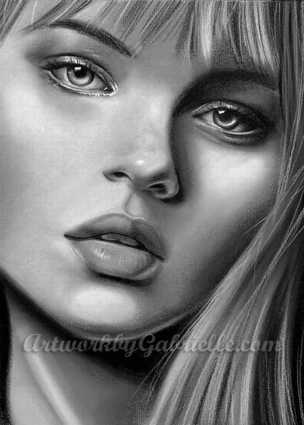 It's just a picture of Clever Woman Portrait Drawing