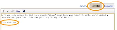 วิธีการใส่ Jumb break ในมุมมอง Edit HTML