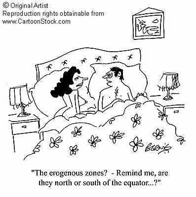 Female erogenous zones diagram
