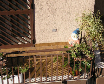 Dopo i nani da giardino e quelli scesi in politica, ecco a voi il nano da balcone