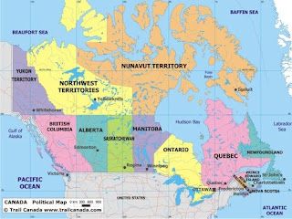 Map Of Canada July 1 1867.Oakview Cottage Happy Birthday Canada