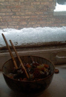 noodles and snow