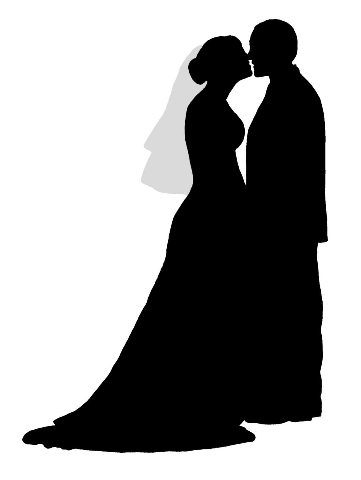 Поздравление, силуэт жениха и невесты для открытки