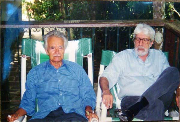 Mário Barata e Ivan Junqueira em 2001