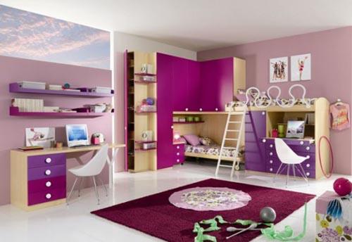 modern colorful kids bedroom design