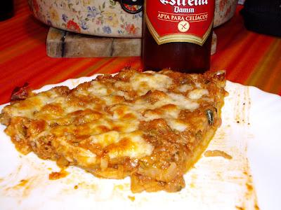 PIZZA Y CERVEZA SIN GLUTEN DAMM