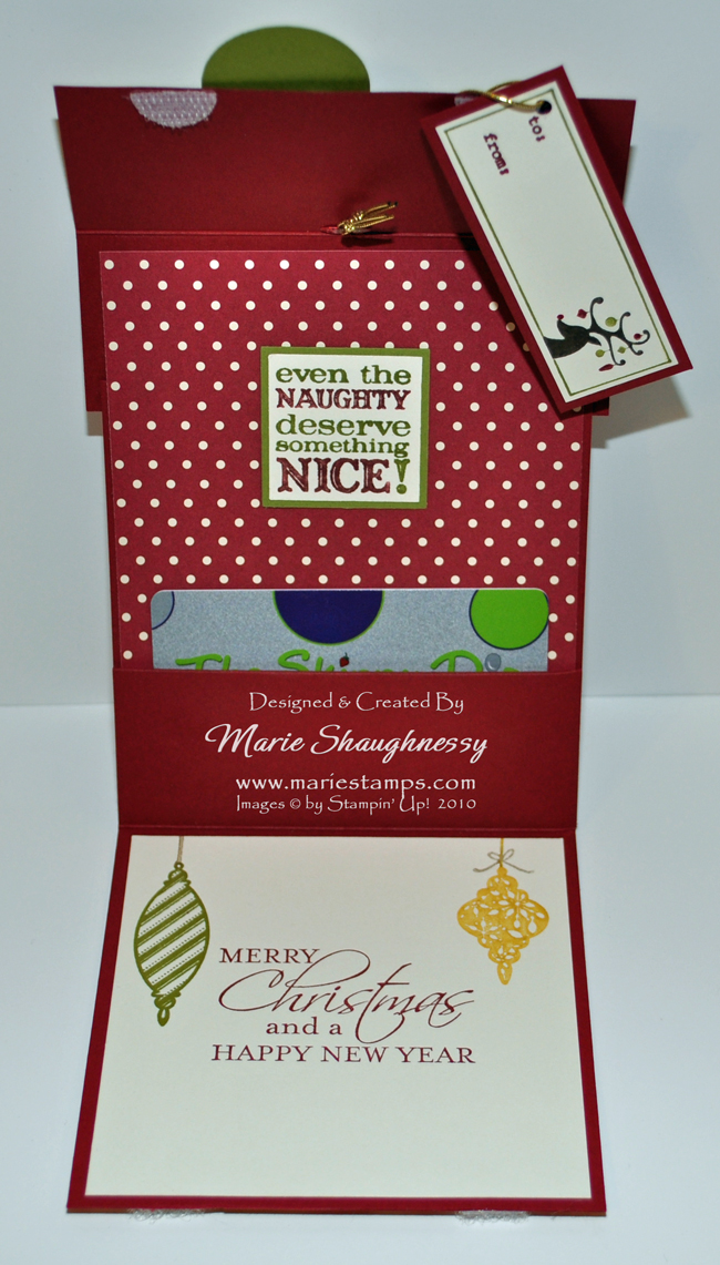 Stamping Inspiration: HOLLY JOLLY STAMP CAMP, Present Gift
