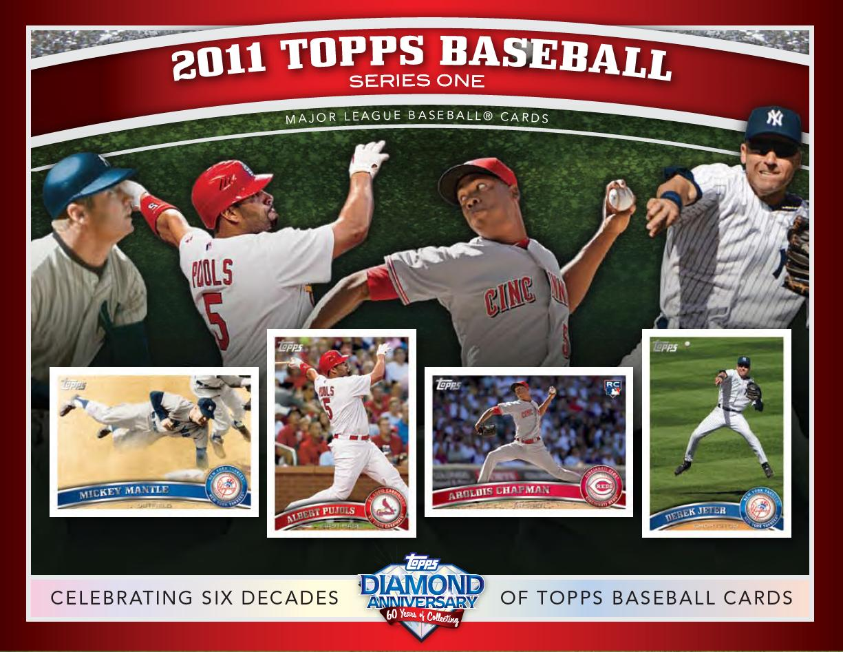 Bdj610s Topps Baseball Card Blog 2011 Topps Series 1 Sell Sheets