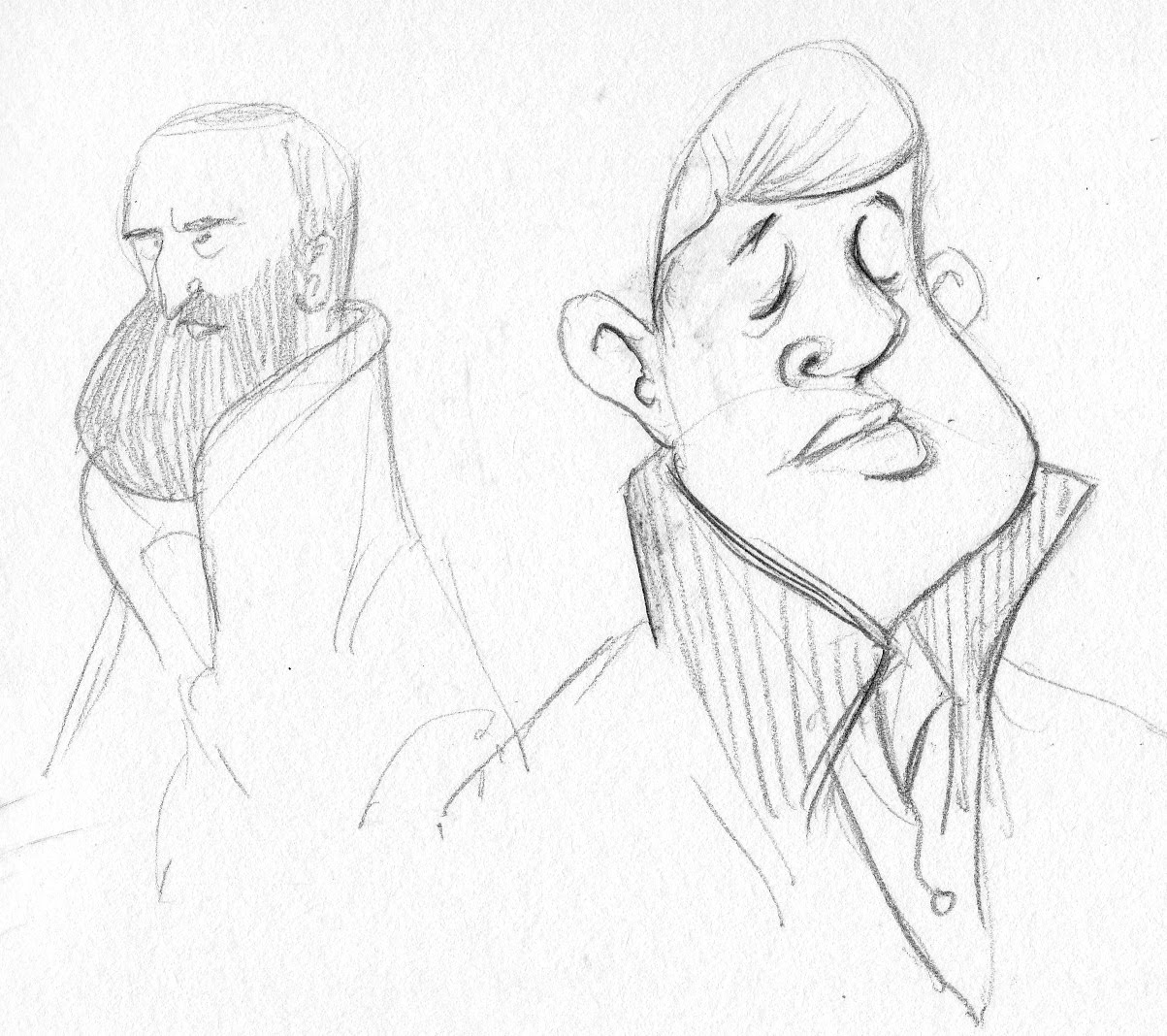 Stinky Wizzle Treats Some Fellow Commuters Sketched Today