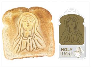tostadas con la aparición de la Virgen
