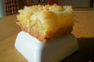 Pineapple Coconut Bars Using Cake Mix