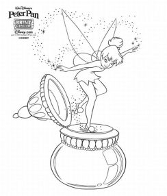 Free Coloring Pages Tinkerbell And Friends Coloring Pages