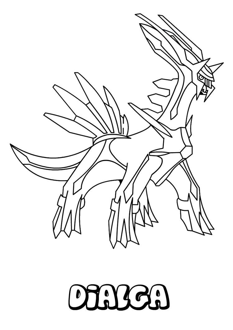 coloring pages pokemon | Pokemon Dialga Coloring Pages Ideas