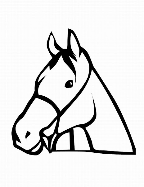 horse head coloring pages printable colorings net