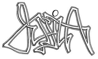 "jessica name coloring pages | Free Graffiti Alphabet Names "" Jessica"