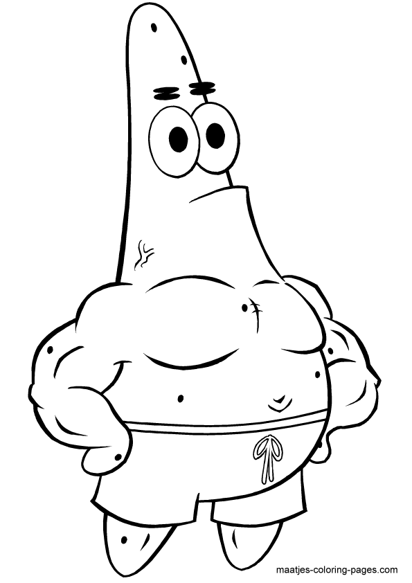 patrick from spongebob coloring pages - photo #7