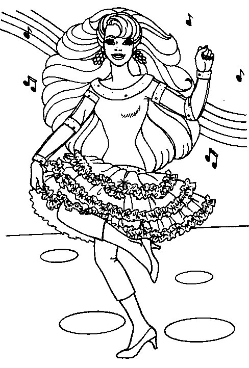 Interactive Magazine: Barbie Dolls Coloring Sheets For ...