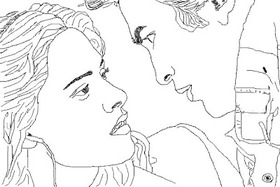 Transmissionpress Bella And Edward Twilight Coloring Pages