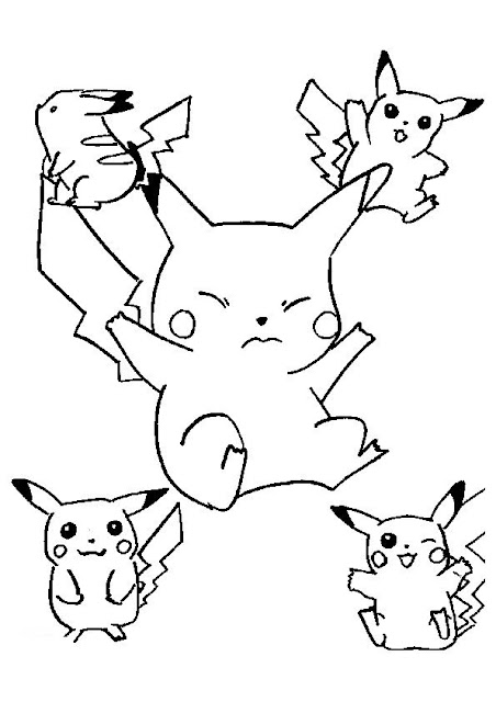 "pokemon sawsbuck winter coloring pages | transmissionpress: Pikachu and Satoshi "" Pokemon ..."