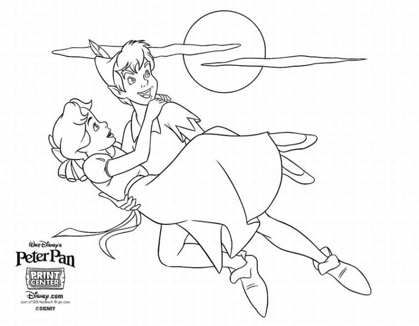 Disneyland Printable Coloring Pages Free Disney Peter Pan Coloring Pages