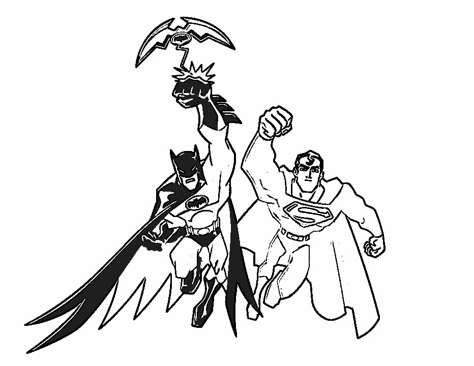 Super Hero Coloring Batman Coloring Pages And Pictures: Batman Super Hero Cartoon Coloring Pages