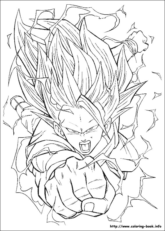 Dragon Ball Goku Super Saiyan Coloring Pages Kentscraft