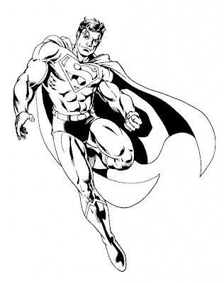 "laveur de vitre super heroes coloring pages | Free printable Superman "" Super Hero "" Flying Coloring Pages"