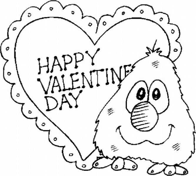 valentine coloring pages online - photo #26
