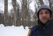 Bosque nevado no Refúgio Neumeyer em Bariloche