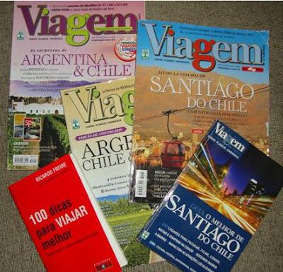 Guias e revistas de viagem sobre Santiago no Chile