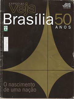 Capa de revista comemorativa dos 50 anos de Brasília