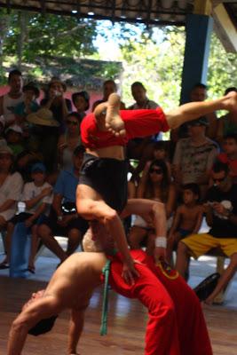 Apresentação de capoeira em Porto Seguro - BA