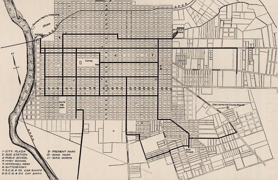 Sacramento History Sacramento S Streetcar Suburbs Part 5
