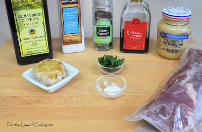 Pork Tenderloin with Roasted Garlic Vinaigrette