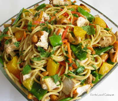Asian Noodle Salad with Chicken and Cashews