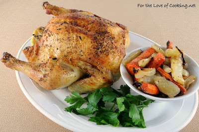 Roasted Chicken with Carrots, Fennel, and Onion