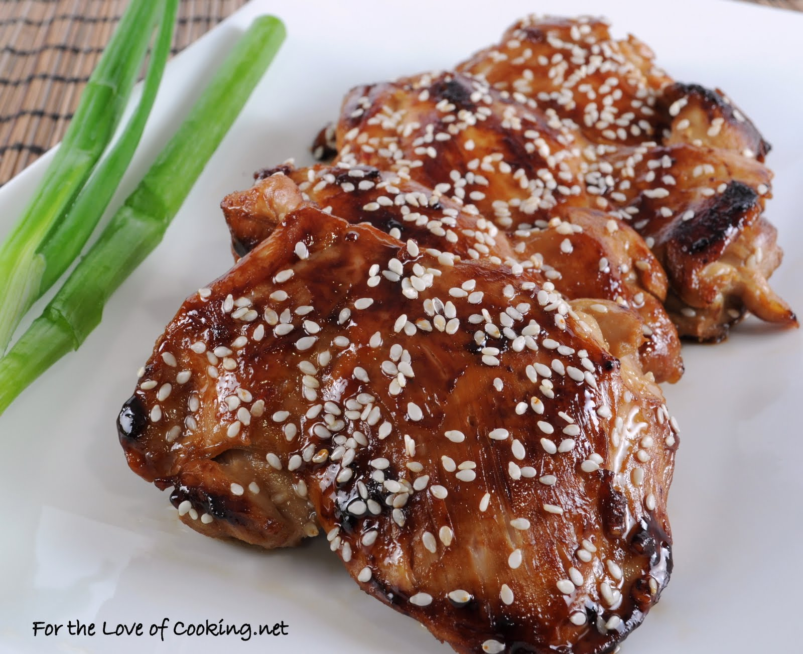 Teriyaki Chicken Thighs For The Love Of Cooking