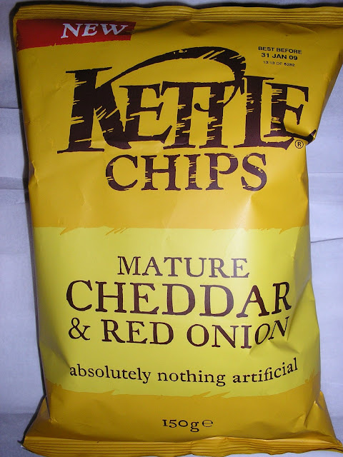 Kettle Chips- Mature Cheddar and Red Onion