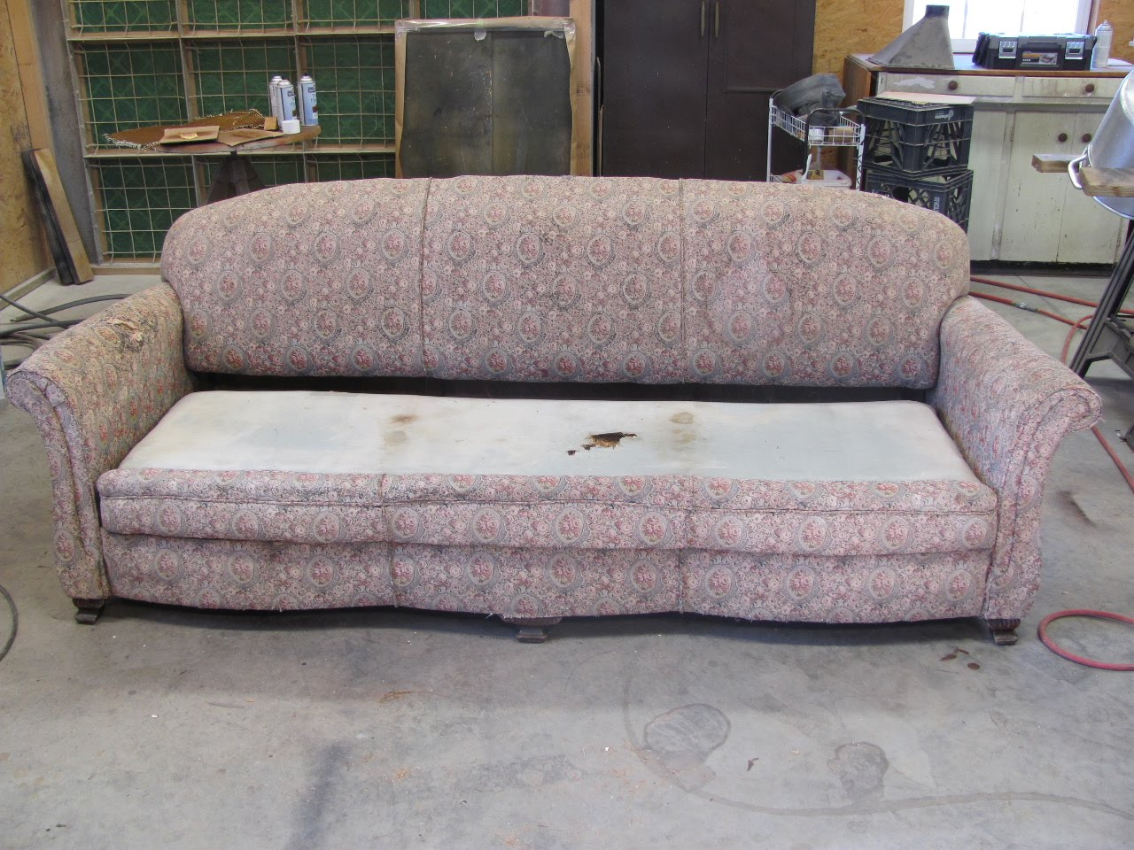 How To Fix A Sofa Spring Chesterfield Gumtree London Repair Sleeper Springs