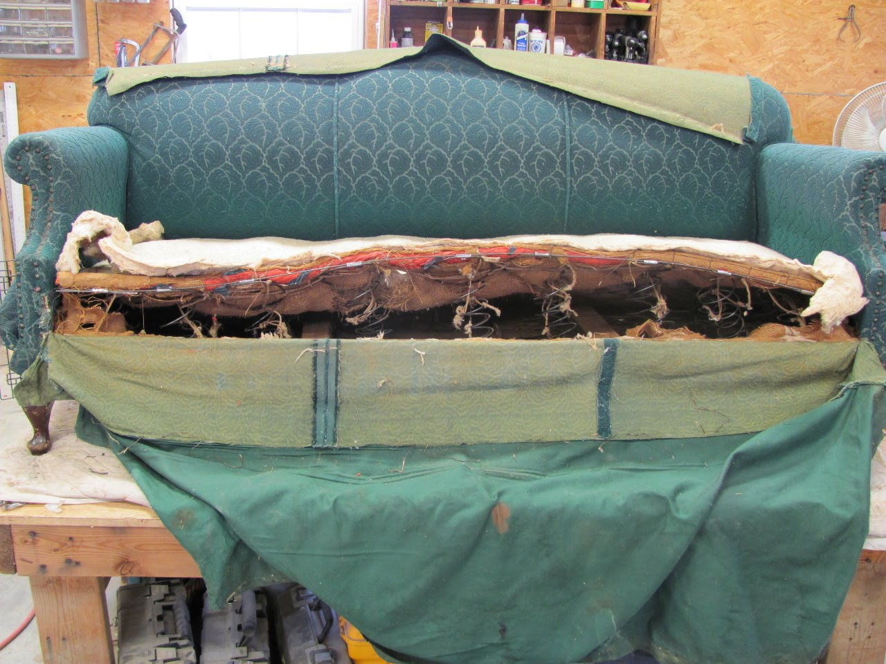 Thomas Nelson Furniture Restoration Re Working Sofa Springs