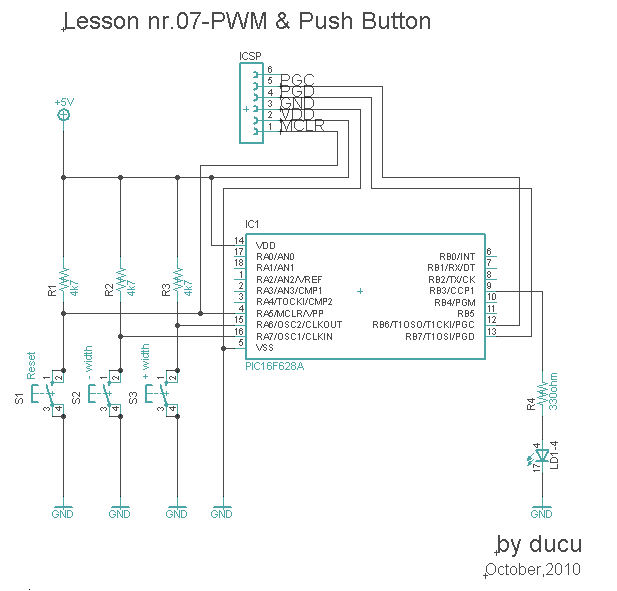 Electronic Experiments: Lesson nr.07-PWM & Push Button