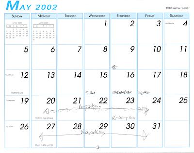 Paul Romein Blog Wall Calendar May 2002
